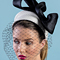 Fashion hat Blanche with detachable veil, a design by Melbourne milliner Louise Macdonald