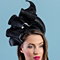 Fashion hat Josephine in Black and White, a design by Melbourne milliner Louise Macdonald