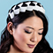 Fashion hat Lula Bandeau in Black and White, a design by Melbourne milliner Louise Macdonald