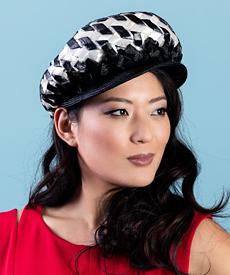 Designer hat Adeline Cap by Louise Macdonald Milliner (Melbourne, Australia)