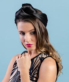 Designer hat Black Turban Wrap by Louise Macdonald Milliner (Melbourne, Australia)