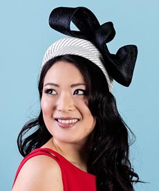 Designer hat Blanche with detachable veil by Louise Macdonald Milliner (Melbourne, Australia)