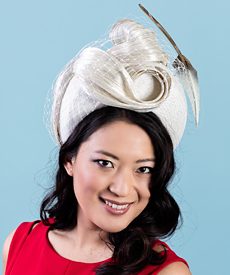 Designer hat Cressida by Louise Macdonald Milliner (Melbourne, Australia)