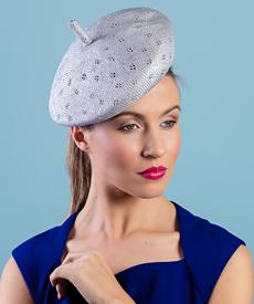 Designer hat Edith by Louise Macdonald Milliner (Melbourne, Australia)