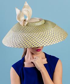 Designer hat Edna by Louise Macdonald Milliner (Melbourne, Australia)