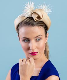 Designer hat Hazel by Louise Macdonald Milliner (Melbourne, Australia)