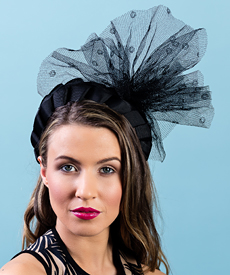 Designer hat Kitty by Louise Macdonald Milliner (Melbourne, Australia)
