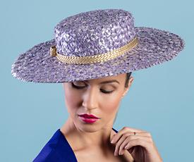 Designer hat Lillian by Louise Macdonald Milliner (Melbourne, Australia)