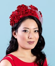 Designer hat Ruby by Louise Macdonald Milliner (Melbourne, Australia)