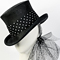 Fashion hat Giddy Up Riding Hat in Black, a design by Melbourne milliner Louise Macdonald