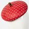 Fashion hat Red Bergamo, a design by Melbourne milliner Louise Macdonald