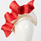 Fashion hat White and Watermelon Josephine, a design by Melbourne milliner Louise Macdonald