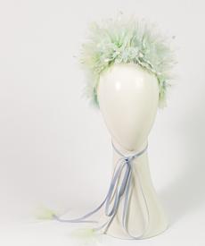 Designer hat Alora in Pastels by Louise Macdonald Milliner (Melbourne, Australia)