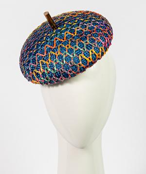 Designer hat Blue Bergamo by Louise Macdonald Milliner (Melbourne, Australia)