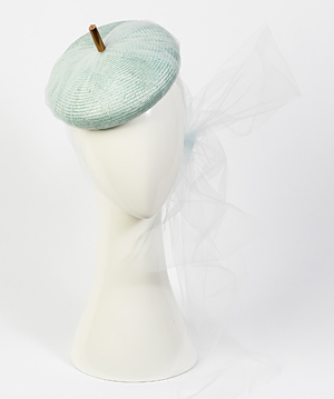 Designer hat Carlotta Beret in Pale Blue by Louise Macdonald Milliner (Melbourne, Australia)