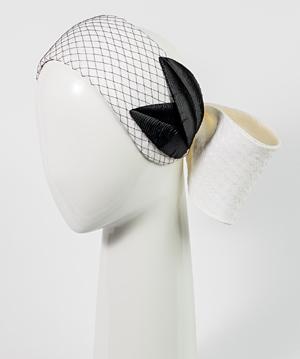 Designer hat Chiara Bow with Vintage Leaves by Louise Macdonald Milliner (Melbourne, Australia)