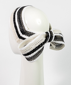 Designer hat Chiara Braid Bow by Louise Macdonald Milliner (Melbourne, Australia)