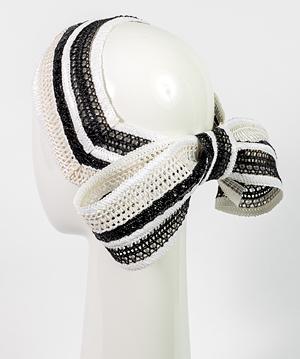 Designer hat Chiara Braid Bow by Louise Macdonald Milliner (Melbourne, Australia)