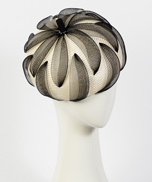 Designer hat Elenora by Louise Macdonald Milliner (Melbourne, Australia)