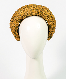 Designer hat Elodie Halo in Natural Vintage Braid by Louise Macdonald Milliner (Melbourne, Australia)