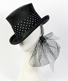 Designer hat Giddy Up Riding Hat in Black by Louise Macdonald Milliner (Melbourne, Australia)
