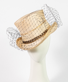 Designer hat Giddy Up Riding Hat in Natural by Louise Macdonald Milliner (Melbourne, Australia)