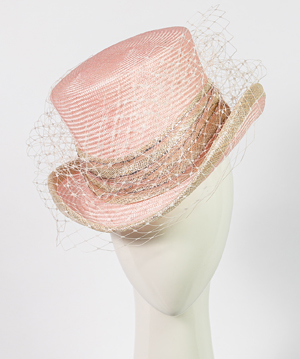 Designer hat Giddy Up Riding Hat in Pink by Louise Macdonald Milliner (Melbourne, Australia)