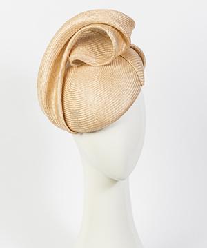 Designer hat Giulia Beret in Natural by Louise Macdonald Milliner (Melbourne, Australia)