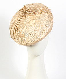 Designer hat Natural Vitoria Beret by Louise Macdonald Milliner (Melbourne, Australia)