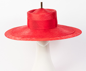 Designer hat Red Como by Louise Macdonald Milliner (Melbourne, Australia)