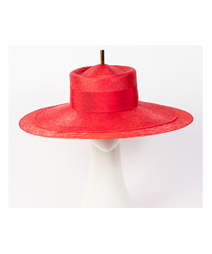 Designer hat Red Como by Louise Macdonald Milliner (Melbourne, Australia)