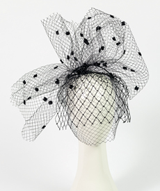 Designer hat Sofia Veil by Louise Macdonald Milliner (Melbourne, Australia)