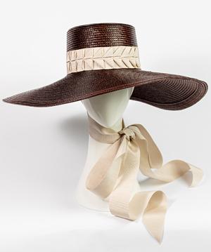 Designer hat Trento by Louise Macdonald Milliner (Melbourne, Australia)