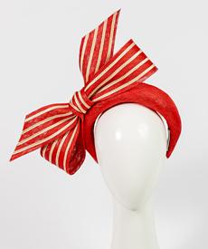 Designer hat Valentina Bow by Louise Macdonald Milliner (Melbourne, Australia)