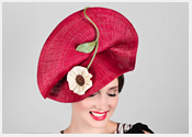 Louise Macdonald's exclusive millinery designs for Hugo Boss - 2017