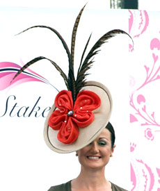 Hat designed by Melbourne milliner Louise Macdonald and presented at the Dubai World Cup 2010 fashion competition