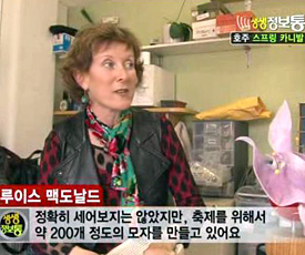 Korean TV crew visited Louise Macdonald Milliner's studio in Melbourne in 2011