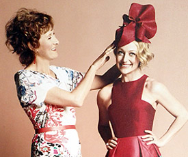 Melbourne milliner Louise Macdonald and TV presenter Shelley Craft featured tn the Australian Women's Weekly