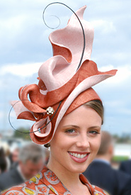 Fashion hat designed by Melbourne milliner Louise Macdonald for the Professional Millinery Competition on Oaks Day 2010