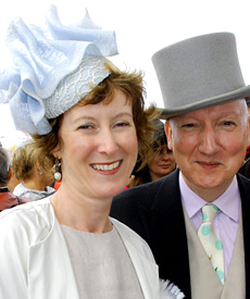 Milliners Louise Macdonald and Stephen Jones at the Melbourne Spring Racing Carnival 2010 - Oaks Day
