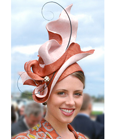 Designer hat by Melbourne milliner Louise Macdonald for the Professional Millinery Competition on Oaks Day 2010