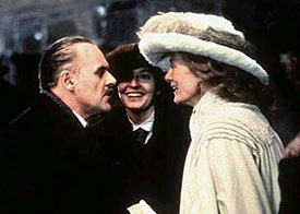 Anthony Hopkins, Emma Thompson and Vanessa Redgrave (left to right) in Howards End