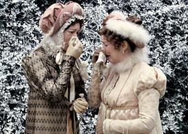Lynn Farleigh (left) and Alison Steadman in Pride and Prejudice