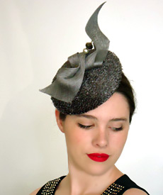 Transeasonal designer hat by Melbourne milliner Louise Macdonald, exclusively for Hugo Boss