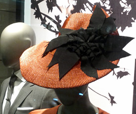 Designer hats by Melbourne milliner Louise Macdonald were available from Hugo Boss Sydney and Bondi Junction prior to the 2013 Sydney Autumn Racing Carnival