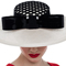 Louise Macdonald Milliner's 2015 collection for Hugo Boss Melbourne - Fashion hat Bel Ombre in Black and Ivory