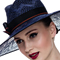 Louise Macdonald Milliner's 2015 collection for Hugo Boss Melbourne - Fashion hat Blue Lacy Fedora