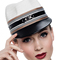 Louise Macdonald Milliner's 2015 collection for Hugo Boss Melbourne - Fashion hat Ivory Polo Cap