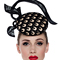 Louise Macdonald Milliner's 2015 collection for Hugo Boss Melbourne - Fashion hat Silhouette Headpiece in Natural and Black