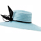 Louise Macdonald Milliner's 2016 collection for Hugo Boss Melbourne - Fashion hat Zina in Pale Blue and Black